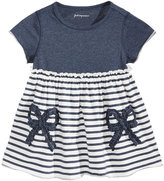 First Impressions Bows and Stripes Cotton Babydoll Tunic, Baby Girls (0-24 months), Created for Macy's