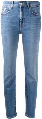 7 For All Mankind Mid-Rise Tapered Jeans
