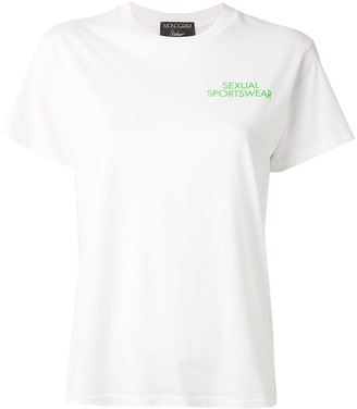 Monogram slogan print T-shirt