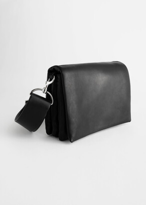 And other stories Leather Crossbody Utility Bag