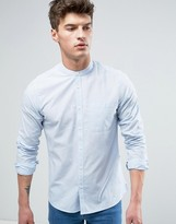 Solid & Striped Solid Striped Shirt With Grandad Collar In Regular Fit