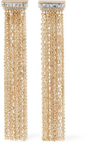 Lanvin Gold-tone Crystal Clip Earrings - one size
