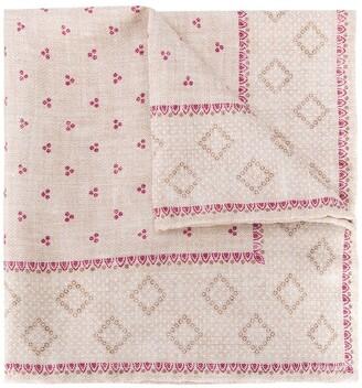 Brunello Cucinelli Paisley Pattern Silk Handkerchief