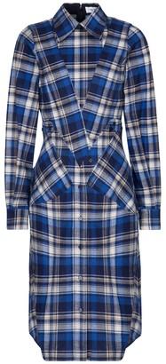 Victoria Beckham Checked cotton shirt dress