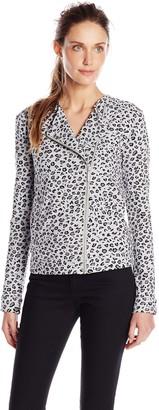 Joan Vass Women's Moto Jacket