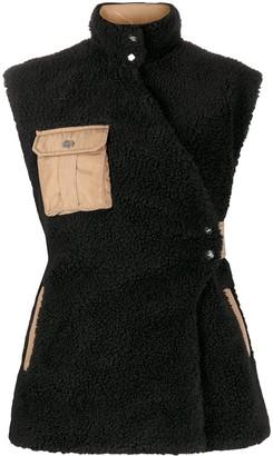 Ganni Multi-Pocket Wrap Vest