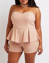 Charlotte Russe Plus Size Strapless Peplum Romper
