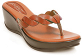 Brown Woven Wedge Sandal