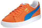 Puma Clyde Suede Low-Top Sneaker, Orange/Blue