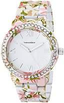 Vernier Women's VNR11168E Rhinestone-Accented Watch