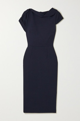 Roland Mouret Brenin Crepe Dress - Navy