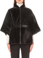 Brunello Cucinelli Cape-back shearling coat