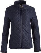 Weatherproof Dark Sea Tab-Collar Quilted Jacket - Plus Too