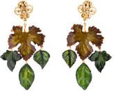Dolce & Gabbana Lacquered Leaf Chandelier Earrings