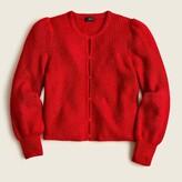 Red Puff Sleeve Cardigan