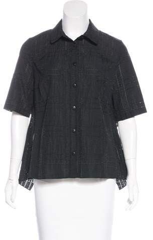 Nellie Partow Short Sleeve Button-Up Top w/ Tags