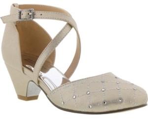 Badgley Mischka Big Girls Halo Dorsay Dress Shoe