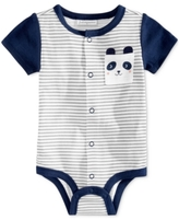 First Impressions Striped Panda Cotton Snap-Up Bodysuit, Baby Boys (0-24 months), Created for Macy's