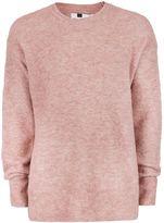 Topman Pink Boucle Textured Drop Shoulder Jumper
