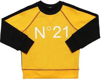 N°21 Color Block Cotton Sweatshirt