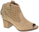 Chinese Laundry Trixie Peep Toe Suede Western Bootie