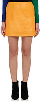 Lisa Perry Women's Leather Miniskirt-YELLOW