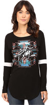 Rock and Roll Cowgirl Long Sleeve Baseball Tee 48T8194