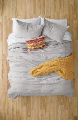 BP Waffle Texture Stripe Duvet Cover & Sham Set