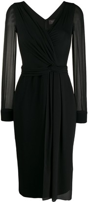 Max Mara Sheer Sleeve Dress