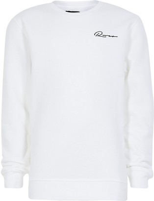 River Island Boys white embroidered sweatshirt