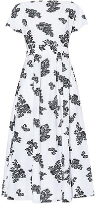 Erdem Full Skirt Cap Sleeve Midi Dress