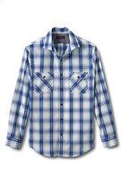 Classic Men's Tailored Fit Long Sleeve Cityscape Poplin Shirt-Wet Cement