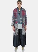 Swati Kalsi Men's Silk Long Embroidered Tibetan Jacket In Grey
