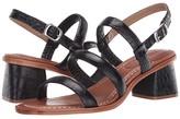 Bernardo Britney (Black Crocco Embossed) Women's Shoes