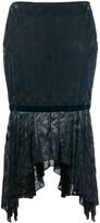 Romeo Gigli Pre Owned 1997 textured handkerchief skirt