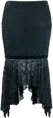 Romeo Gigli Pre-Owned 1997 Textured Handkerchief Skirt