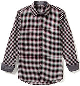 Michael Kors Knox Tailored-Fit Long-Sleeve Checked Woven Shirt