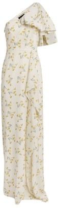 Roland Mouret Floral One-Shoulder Belhaven Gown