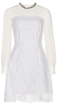 Miu Miu Embellished Silk And Lace Dress