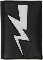 Neil Barrett Black Thunderbolt Bifold Card Holder