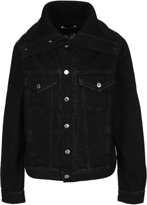 Helmut Lang Knit Collar Trucker Denim Jacket