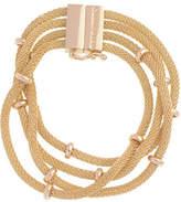 Anne Klein 7.5 Inch Multi Row Line Bracelet
