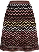 M Missoni Metallic Zig Zag Mini Skirt