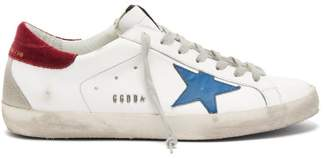 Golden Goose Superstar Leather Trainers - Mens - Blue White
