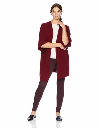 Lark & Ro Amazon Brand Women's Oversized Drapey Open Cardigan Cashmere Sweater with Pocket