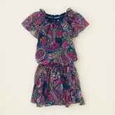 Children's Place Cascade ruffle paisley dress