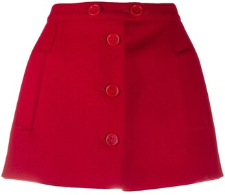 RED Valentino High-Waisted Buttoned Shorts