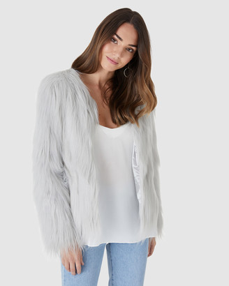 Everly Collective - Women's Grey Jackets - Marmont Faux Fur Jacket - Size One Size, XS at The Iconic