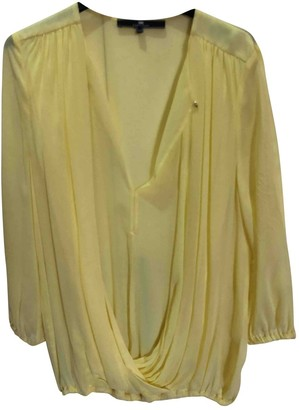 Elisabetta Franchi Yellow Silk Top for Women