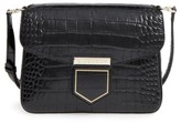 Givenchy Nobile Croc Embossed Leather Crossbody Bag - Black